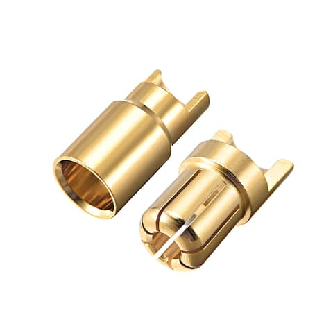 2 Pairs 6mm Gold Plated Male & Female Bullets Connectors Banana Plugs (2 Male + 2 Female) #0206 - 6mm Male Female 2pairs