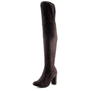 Chinese Laundry Bachelorette Women Round Toe Canvas Brown Over the Knee Boot