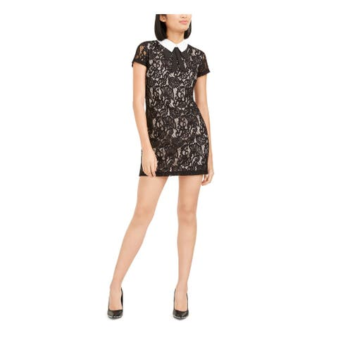 BETSEY JOHNSON Gray Short Sleeve Micro Mini Dress 0