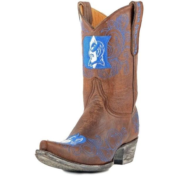 Gameday Boots Womens College Duke Blue Devils Brass Blue