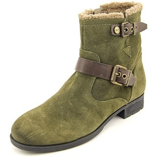 Marc Fisher Nattaly Women Round Toe Suede Green Ankle Boot
