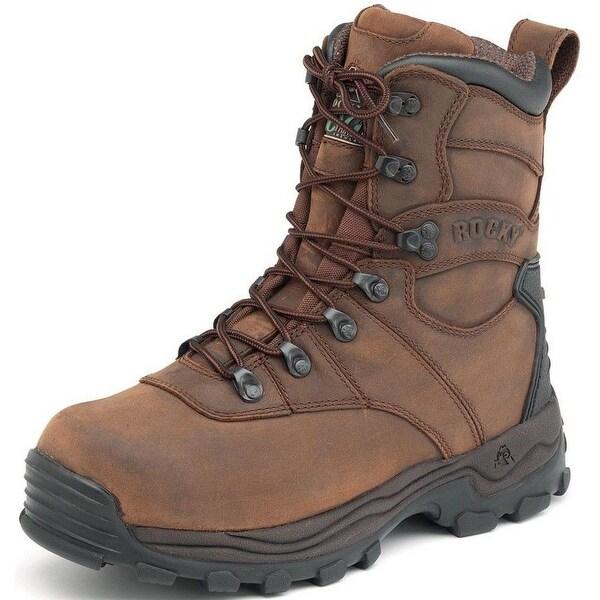 Rocky Outdoor Boots Mens Sport Utility Waterproof Brown