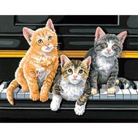 "Musical Trio - Paint Works Paint By Number Kit 14""X11"""