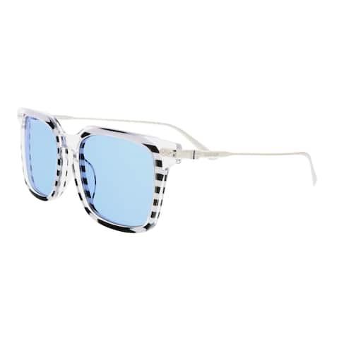 Calvin Klein CK18702S 972 Crystal Stripe Square Sunglasses - 54-19-140