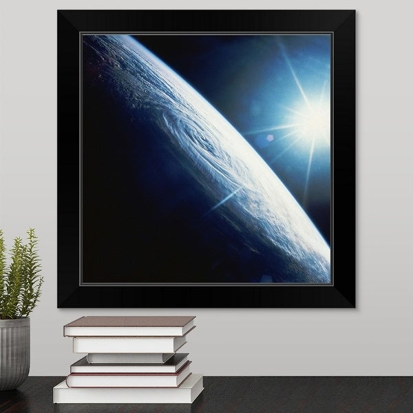 """Sun over the Earth"" Black Framed Print"
