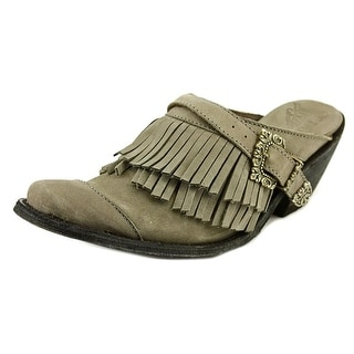 Old Gringo Dora Women Round Toe Leather Gray Clogs