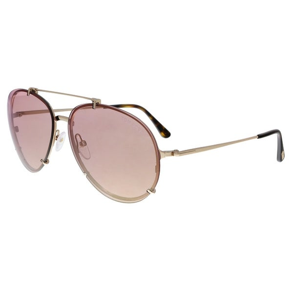 7021c84c524b Shop Tom Ford FT0527 28Z Dickon Gold Pink Aviator Sunglasses - No ...