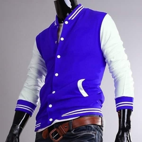 Fashion Classic Unisex Mens Slim Fit College Casual Baseball Jacket Solid Winter Jacket Men On Sale Overstock 31154534