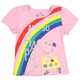 Peppa The Pig Little Girls' Toddler Just So Happy! T-Shirt