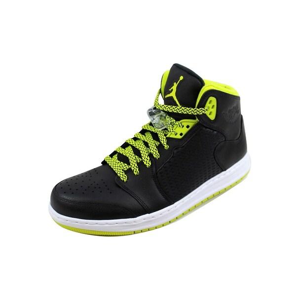 Nike Men's Air Jordan Prime 5 Black/Venom Green-Black-White 429489-013