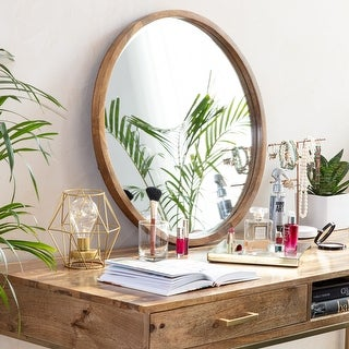 Link to Stewart Modern Bevelled Wall Mirror - Natural Wood Similar Items in Mirrors