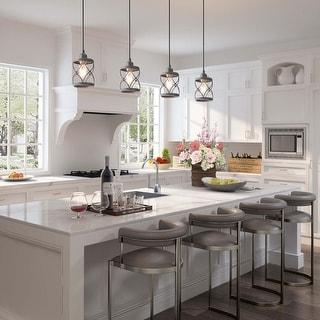 "Link to LNC Modern Farmhouse 1-Light Geometric Mini Pendant Lighting Ceiling Light Fixture - D5""x H7.9"" - D5""x H7.9"" Similar Items in Pendant Lights"