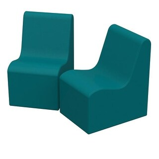 36 x 24 x 28 in. SoftZone Wave Youth Chair, Pack of 2 - Seafoam
