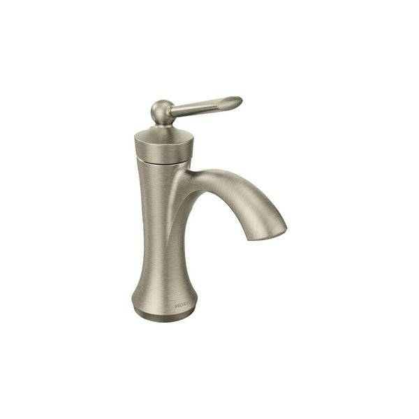Shop Moen 4500 Wynford Single Hole Bathroom Faucet With Metal Pop Up