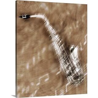 """""""Saxophone"""" Canvas Wall Art"""