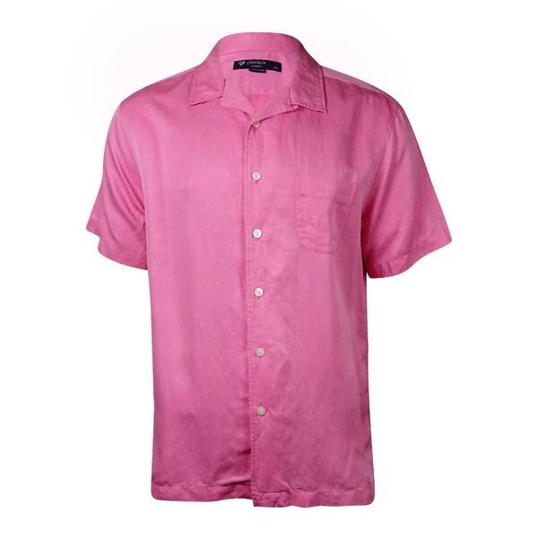 Cremieux Men's Classics Sunwashed Silk/Linen Shirt - L