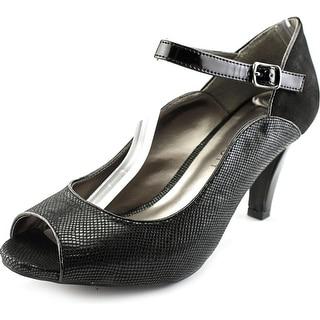 Karen Scott Nadda Women Peep-Toe Synthetic Black Heels