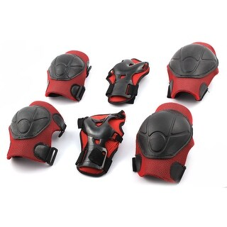 Roller Skating Biking Knee Elbow Wrist Guard Pad Protective Sport Support Set