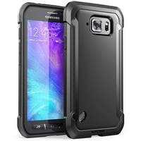 Galaxy S6 Active Case, Supcase,Unicorn Beetle Series Premium Hybrid Protective Clear Case-Black/Black