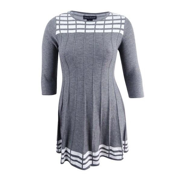 679ed4a0563 Shop Jessica Howard Women s Petite Patterned Sweater Dress (PL