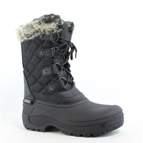 Tundra Womens Augusta Black Snow Boots Size 5