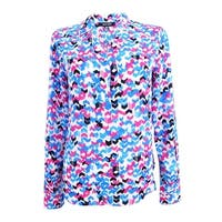 Nine West Women's Printed Blouse - malibu multi