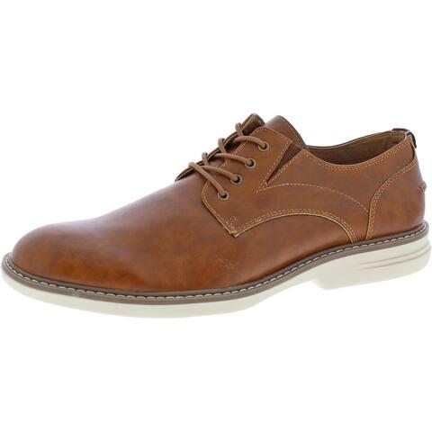 Ben Sherman Men's Countryside Vegan Leather Plain Toe Oxford - Tan PU Leather