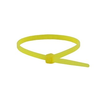 Monoprice 4-inch Cable Tie, 100pcs/Pack, 18 lbs Max Weight - Yellow