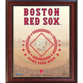Boston Red Sox Game Used Base 11x14 Stadium Collage