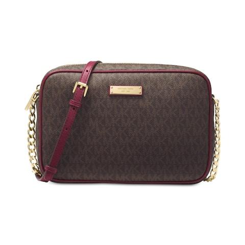 MICHAEL Michael Kors Jet Set Women's Coated Twill Adjustable East West Crossbody Handbag