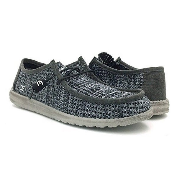 7163f3c837da Shop Hey Dude Mens Wally Sox Perforated, Black Grey - Free Shipping Today -  Overstock - 25857379