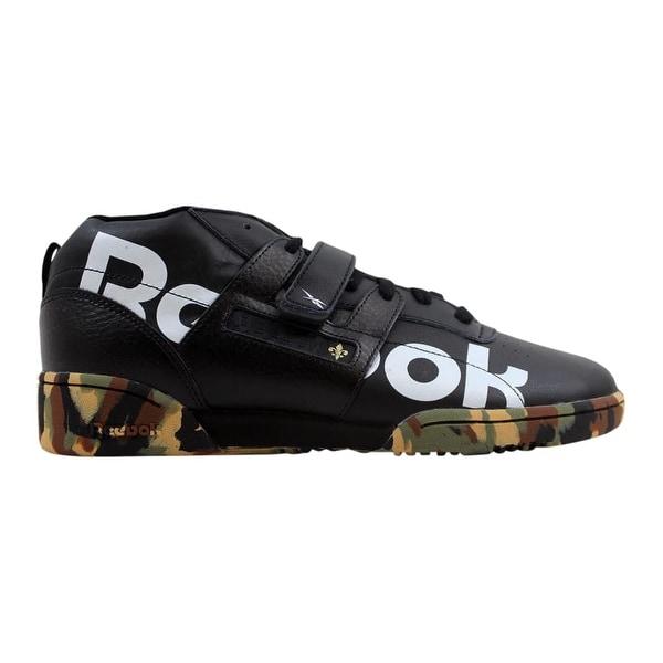 Reebok Workout Mid Strap 3AM Black White-Green New Orleans DV4593 Men  x27 8133bc118