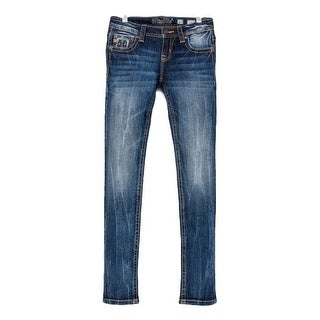 Miss Me Denim Jeans Girls Rogue Skinny Jeans Med Wash JK7757S2