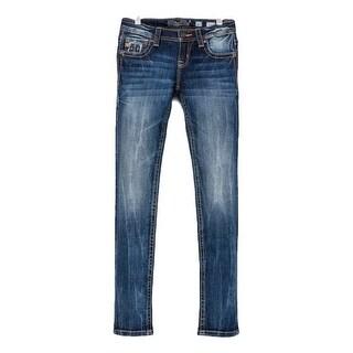 Miss Me Denim Jeans Girls Rogue Skinny Jeans Med Wash JK7757S2