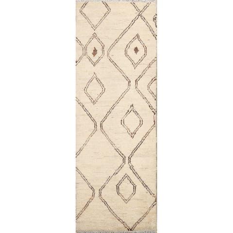 """Tribal Moroccan Oriental Runner Rug Wool Handmade Staircase Carpet - 2'0"""" x 5'5"""""""