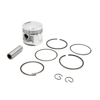 56mm Dia Silver Tone Metal Motorcycle Engine Piston Ring Set For Honda CG125