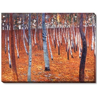 Gustav Klimt 'Beech Forest I' Hand Painted Oil Reproduction