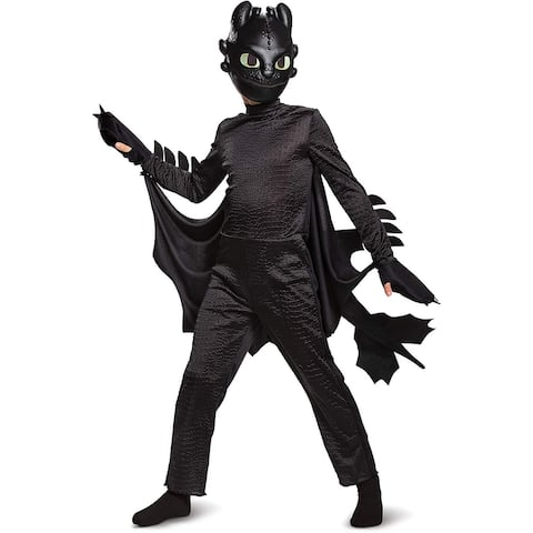 How to Train Your Dragon Toothless Deluxe Child Costume - Black