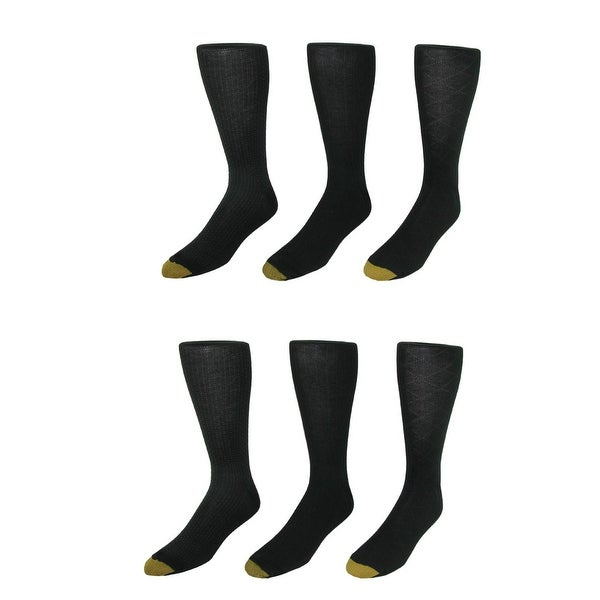 Gold Toe Men's Moisture Control Fashion Socks (Pack of 6)