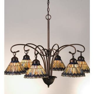 Meyda tiffany chandeliers for less overstock meyda tiffany 12271 stained glass tiffany six light down lighting chandelier aloadofball Image collections