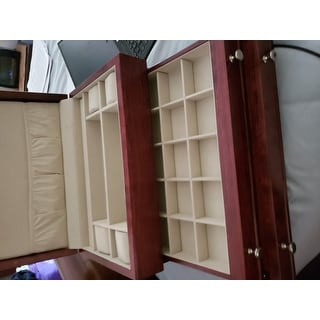 0dbb385dd Shop American Chest 'First Lady' Solid Cherry Jewelry Box - Free Shipping  Today - Overstock - 9052014
