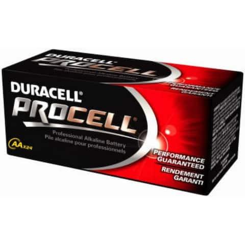 Duracell PC1500BKD Procell Alkaline AA Battery, 1.5 Volt, 24-Pack