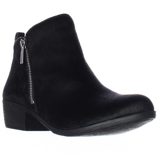 Lucky Brand Basel2 Perforated Ankle Boots, Black