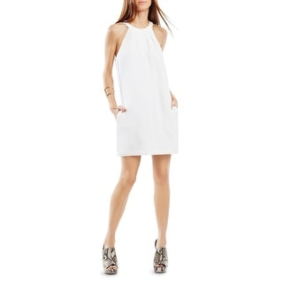 BCBG Max Azria Womens Tristyn Casual Dress Pleated Keyhole - s