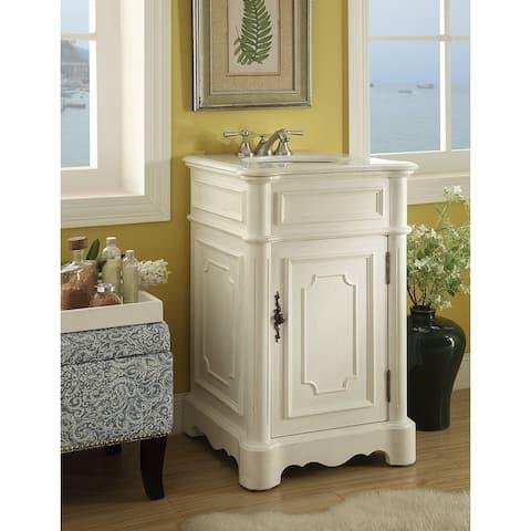 "21"" Benton Collection Antique White Teega BathroomSink Vanity"
