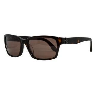 Calvin Klein CK 4184 S 004 Havana Rectangular Sunglasses [Apparel]