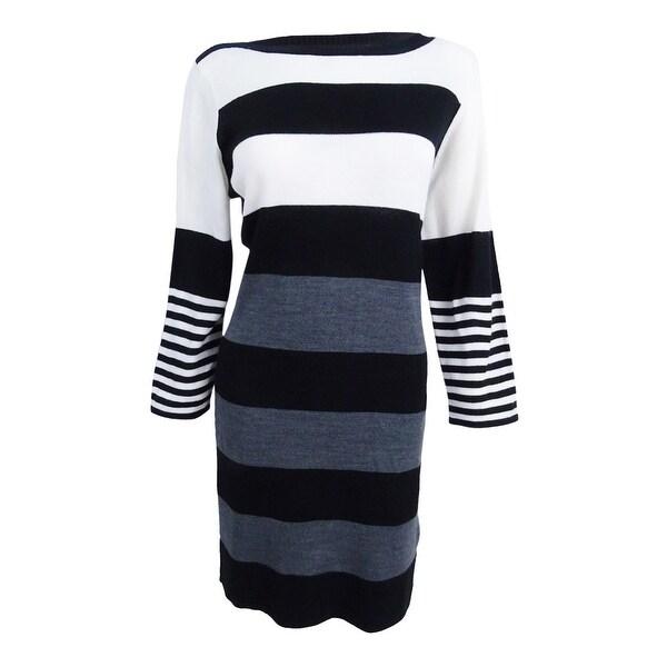 Shop Sandra Darren Womens Petite Sweater Dress Pxl Ivoryheather