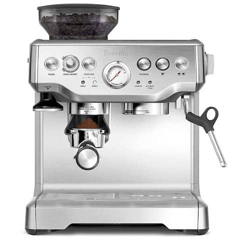 """Breville BES870XL Barista Express Stainless Steel Espresso Machine + Manufacturer's Warranty - 12.60"""" x 15.80"""" x 13.20"""""""