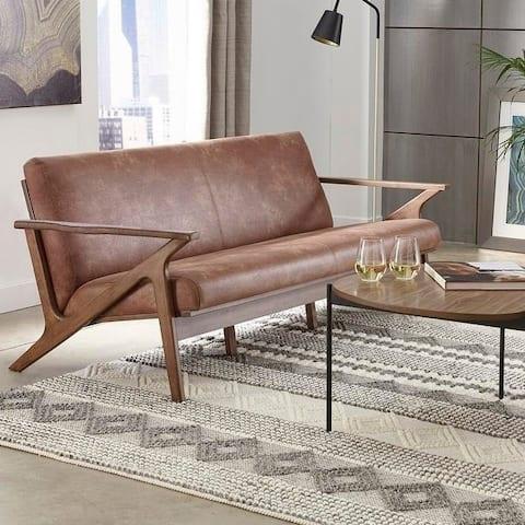 Simple Living Bianca Mid-Century Solid Wood Sofa