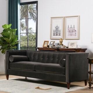 Carson Carrington Odhult Tufted Contemporary Tuxedo Sofa